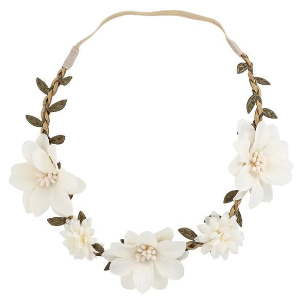 Haarband  - White Flowers