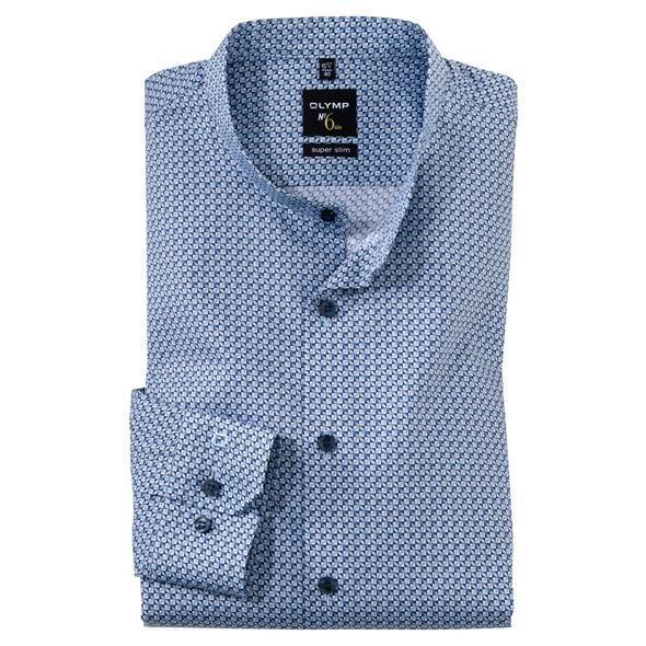 OLYMP No. Six Hemd, super slim, Stehkragen