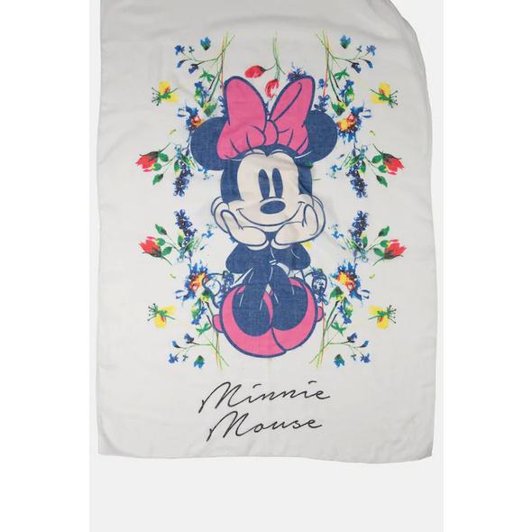 Schal, Minnie-Mouse-Motive, leicht transparent