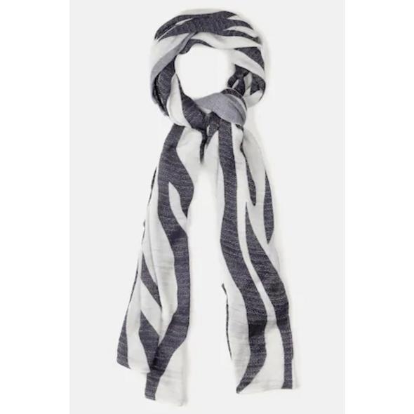 Schal, Zebra-Design, Glanz-Effekt, selection