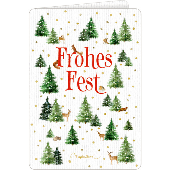 Weihnachtskarten mit Kuvert - Wundervolle Weihnachtsgrüße  M. Bastin