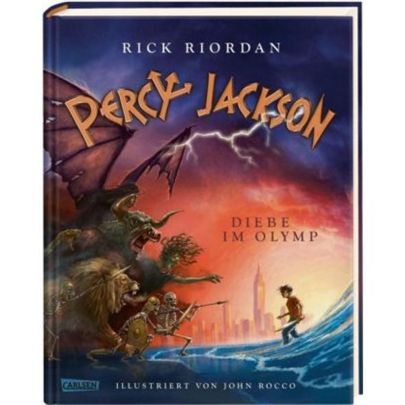 Percy Jackson - Diebe im Olymp  farbig illustriert