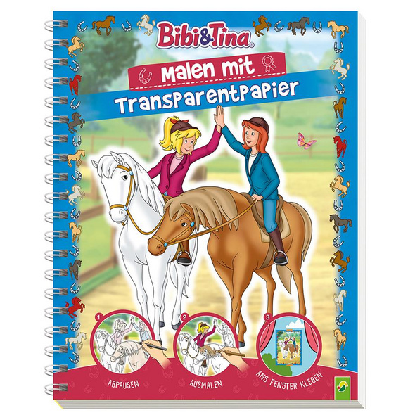 Bibi   Tina - Malen mit Transparentpapier
