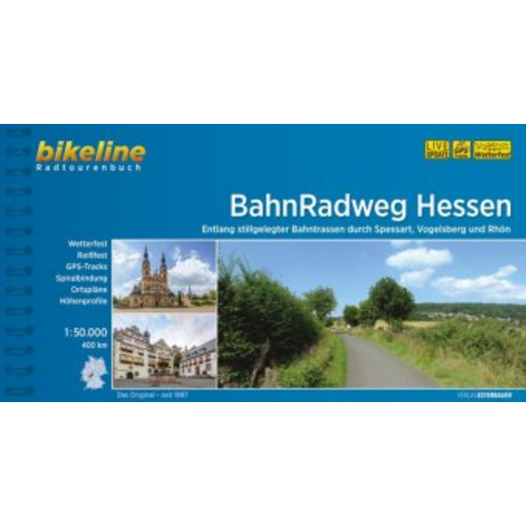 bikeline Radtourenbuch BahnRadweg Hessen