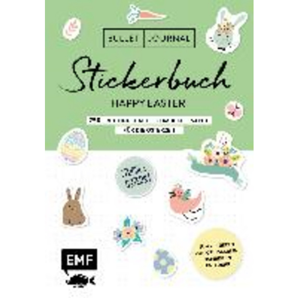 Bullet Journal - Stickerbuch Happy Easter: 750 frü