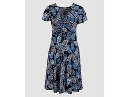 Kleid mit Blätterdruck