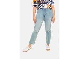 Jeans Sammy, Fransensaum, schmale 5-Pocket-Form